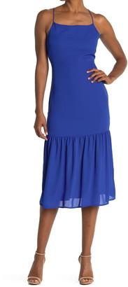 NSR Diana Flounce Hem Slip Dress