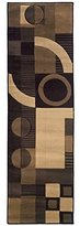 Sphinx by Oriental Weavers 748679183883 Tones 2.25 ft. x 7.75 ft. Contemporary Runner Rug - Brown and Beige