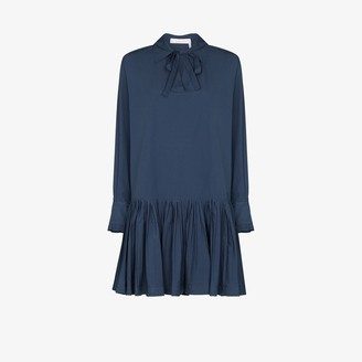 See by Chloe Pussy Bow Cotton Mini Dress