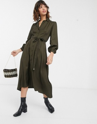 French Connection utility midi shirt dress