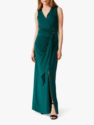 Phase Eight Caylee Drape Dress, Pine