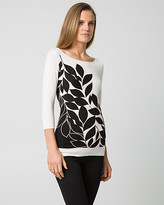 Le Château Floral Print Viscose Blend Boat Neck Sweater
