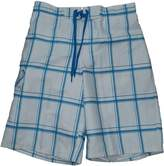 "Ocean Pacific OP & Blue Plaid Eboard At Knee 22"" Outseam Swim Short Trunks - Large"