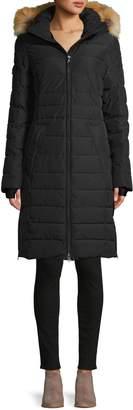 Pajar Fox Fur-Trim Quilted Coat