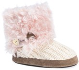 Women's MUK LUKS® Patti Faux Fur Bootie Slippers