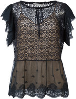 Stella McCartney frilled lace top