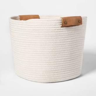"Threshold Decorative Coiled Rope Square Base Tapered Basket Medium White 13"" - ThresholdTM"