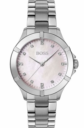HUGO BOSS Womens Analogue Classic Quartz Watch with Stainless Steel Strap 1502469