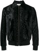 Saint Laurent leopard print collared jacket