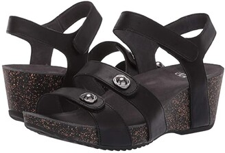 Dansko Savannah (Black Waxy Burnished) Women's Sandals
