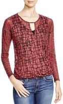 Red Haute Keyhole Top