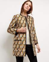 Jaeger Graphic Jacquard Coat