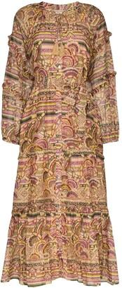 Chufy Nina printed-silk maxi dress