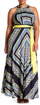 Eliza J Printed Halter Dress (Plus Size)