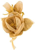 Fendi Woven Flower Brooch