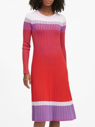 Banana Republic Color-Block Sweater Dress