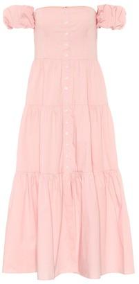 STAUD Elio cotton maxi dress