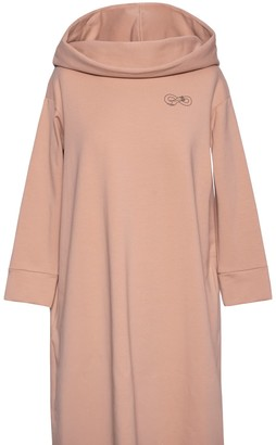 Be With Soft Cotton Hoodie Dress For Hugs - Beige