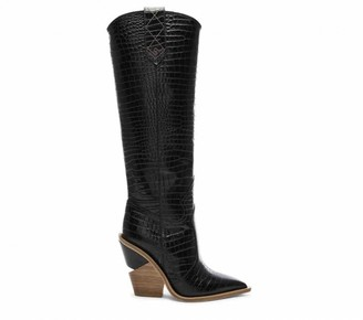Fendi Cowboy Black Exotic leathers Boots