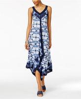 Style&Co. Style & Co Petite Printed Handkerchief-Hem Maxi Dress, Created for Macy's