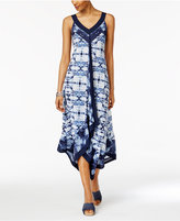 Style&Co. Style & Co Petite Printed Handkerchief-Hem Maxi Dress, Only at Macy's