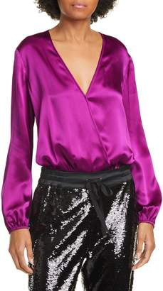 CAMI NYC The Ally Long Sleeve Silk Bodysuit