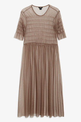 Monki Sheer tiered dress