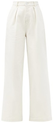 Made In Tomboy - Enea High-rise Wide-leg Denim Trousers - Cream