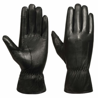 """Acdyion 7.8"""" Palm Length ladies sheepskin leather gloves for Winter/Driving/Full-Hand Touchscreen Texting gloves and Outdoor Windproof Gloves"""