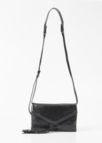 Dries Van Noten black small tassel messenger