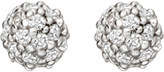 Astley Clarke Pavé Ball Halo stud 14ct white gold and diamond earrings