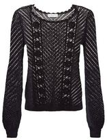 Claudie Pierlot Mix Crochet Knit Sweater