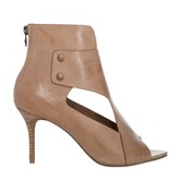 Max Studio Wisp Leather Cut Out High Heeled Booties