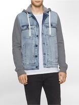 Calvin Klein Mixed Media Trucker Jacket