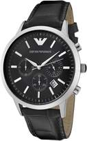 Emporio Armani Men's AR2447 Chronograph Dial Leather Dial Watch