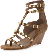 Ash Dafne Studded Wedge Sandal, Wilde