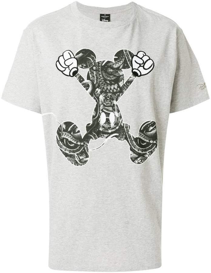 Marcelo Burlon County of Milan snake print Mickey T-shirt