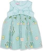 ValMax Satin & Embroidered-Tulle Dress