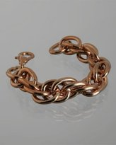 M+J Savitt rose gold twisted chain bracelet