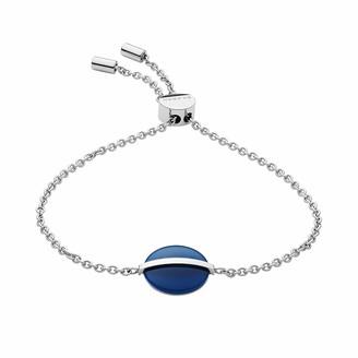 Skagen Sea Glass Silver-Tone Stainless Steel Bracelet Inner Length:15.5-21.5cm Width