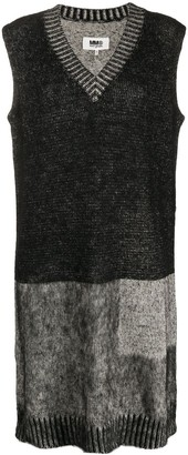 MM6 MAISON MARGIELA Colour-Block Knitted Dress