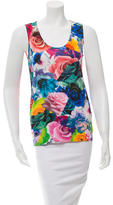 Jil Sander Floral Print Scoop Neck Top