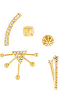 Rebecca Minkoff Singles Club Pave Mix-&-Match Earring Set, Golden