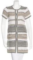 Diane von Furstenberg Tweed Short Sleeve Coat
