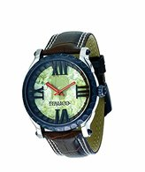 Colosseum Italico Men's ITCB05-F Bronze IP Marbleized Green Dial Leather Watch