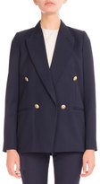 Victoria Beckham Double-Breasted Boxy Blazer, Navy