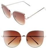 BP Women's 60Mm Metal Cat Eye Sunglasses - Gold