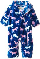 Hatley Fuzzy Fleece Bundler (Baby) - Silhouette Horses-3-6 Months