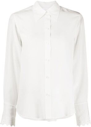 Chloé Long-Sleeve Scallop-Cuff Shirt