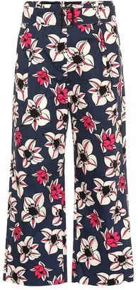 Max Mara S Solista floral cropped wide-leg pants